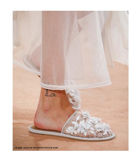 Balenciaga Embellished Lace Slippers