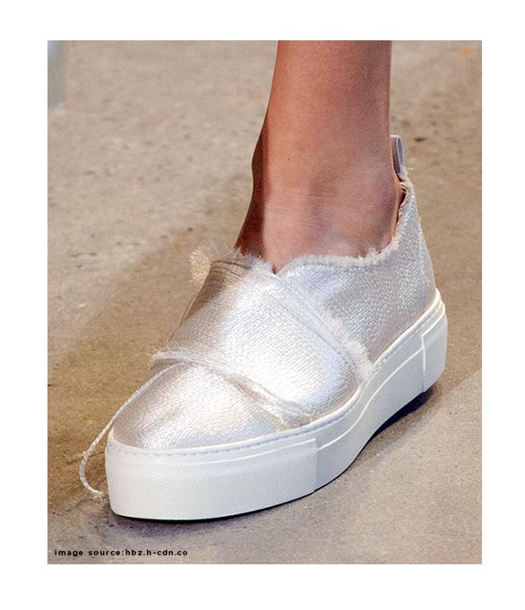Calvin Klein Satin Frayed Sneakers