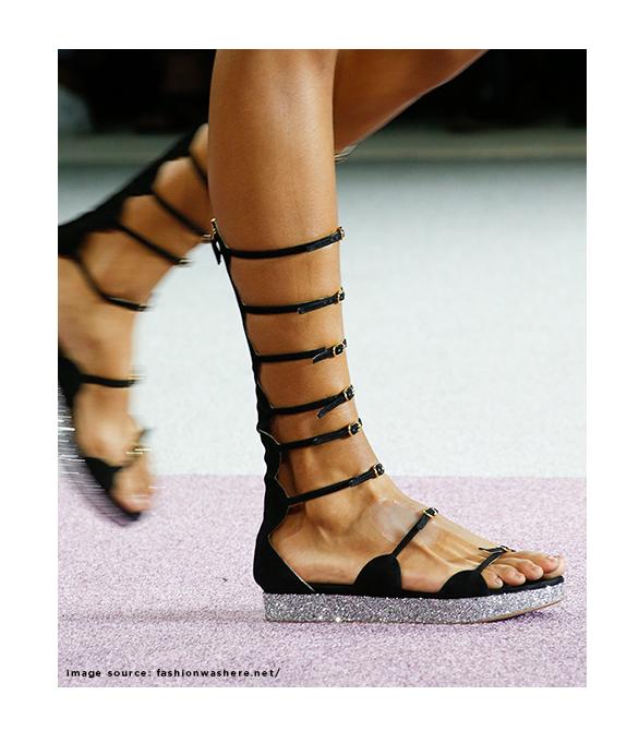 Giambattista Vali Tall Gladiator Suede Sandals